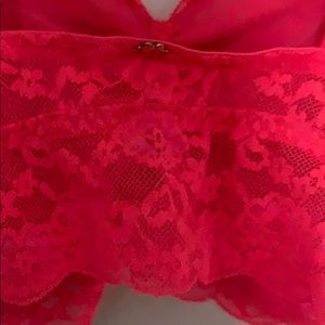 Victoria's Secret Intimates & Sleepwear - Victoria's Secret Pink Neon Orange Lace Bralet
